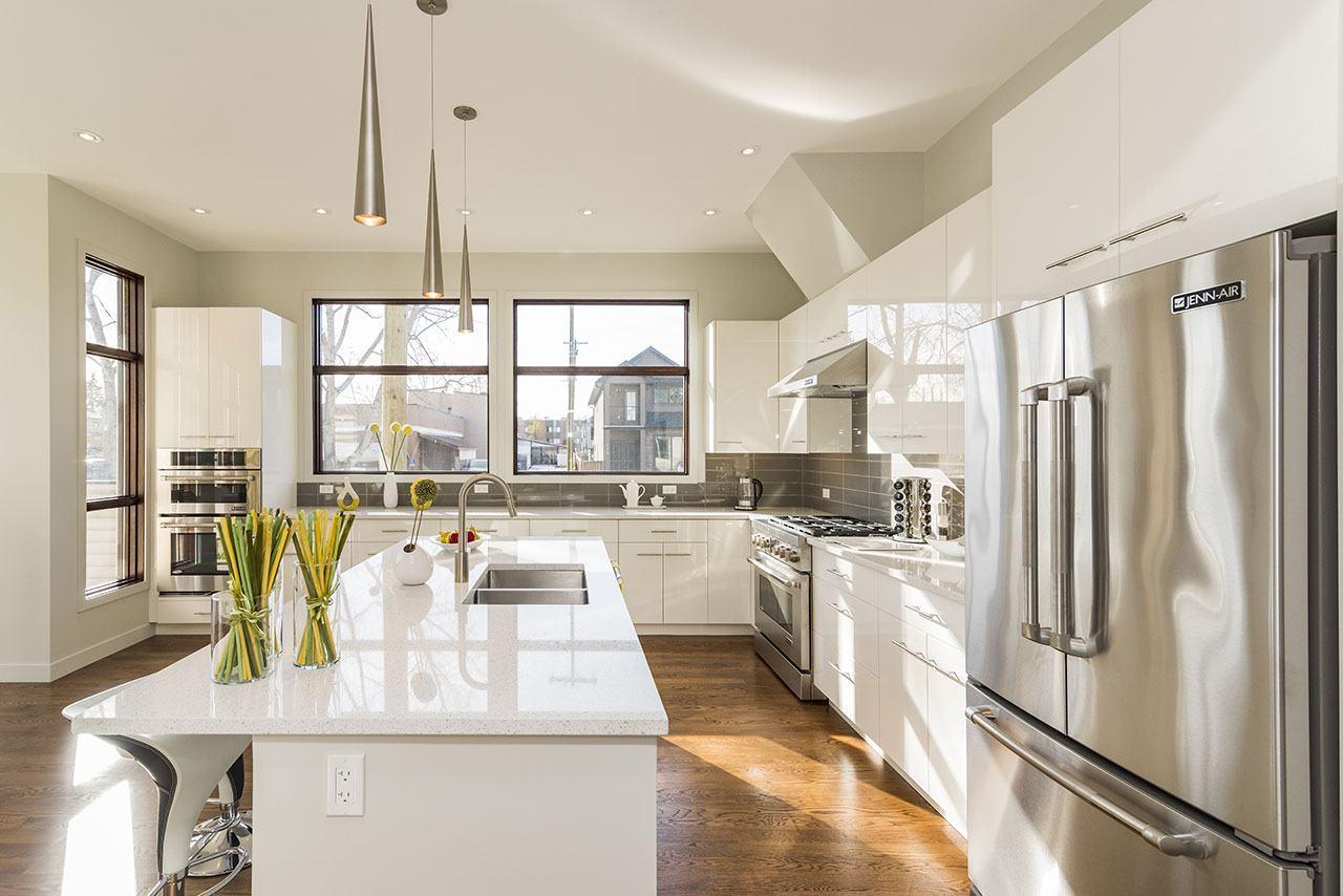 Interior de la cocina de una casa