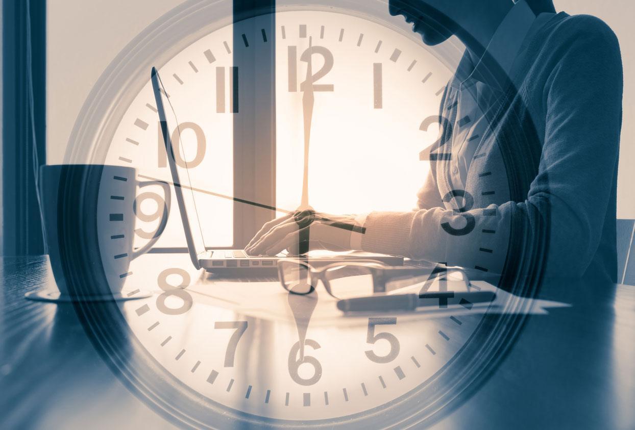 Persona ahorrando tiempo
