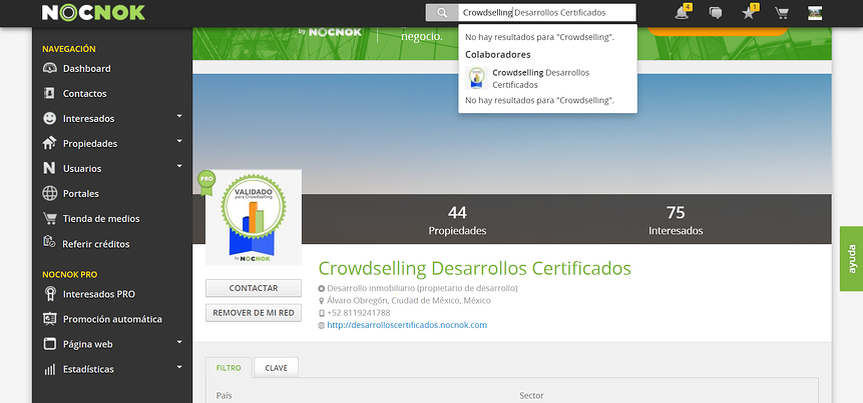 Activa el servicio de Crowdselling