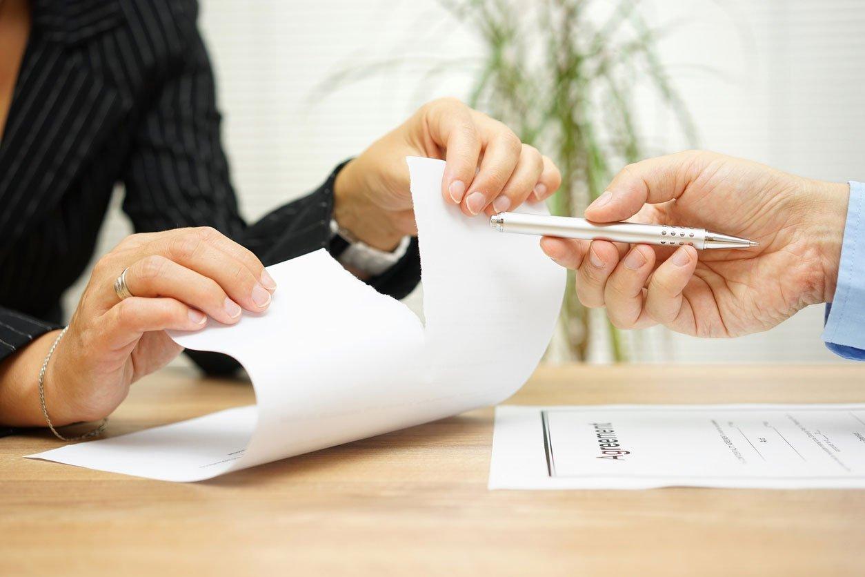 Ruptura de contrato por incumplimiento